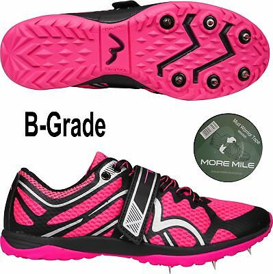 More Mile B-Grade Mud Warrior 1 Cross Country Running Spikes (With Tape) - Pink