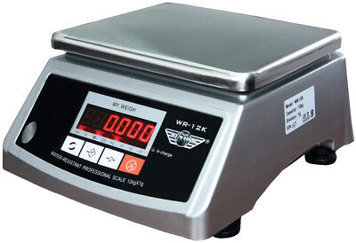 Myweigh WR12K Shop Scale / Geschäftswaage 12kg x 1 G / Two Displays Volume and