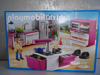 Playmobil city life 5582 design cuisine neuf et for Cuisine playmobil 5582