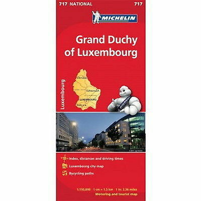 Grand Duchy of Luxembourg Michelin National Map 717 Motoring and Tourist