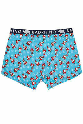 Mens Badrhino Father Christmas Hipster Trunks