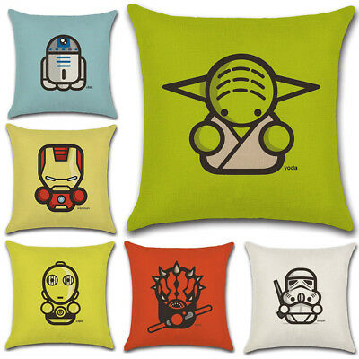 Superb 45Cm Cartoon Star Wars Cotton Linen Pillow Case Sofa Throw Creativecarmelina Interior Chair Design Creativecarmelinacom