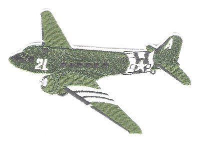 C47 SKY TRAIN Aircraft Airplane Aviation Military Collectable Patch Embroidered