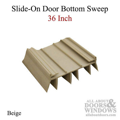 36 Inch Door Bottom/Sweep with 6 fins, Slide-on Type - Beige