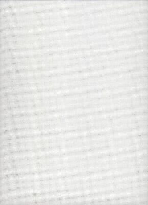 15 count  Zweigart Stramin Canvas White  - fat quarter 50x59cms