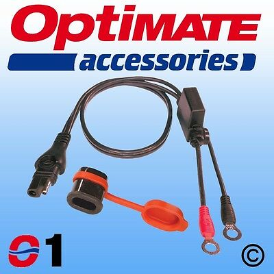 Weatherproof SAE Compatible Eyelet Lead For OptiMate And AccuMate Battery Chargers With M6 Ringlets 50cm 0.5m