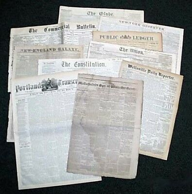 19th Century Variey Lot - 10 Authentic Issues From the 1800's Severely Discouted
