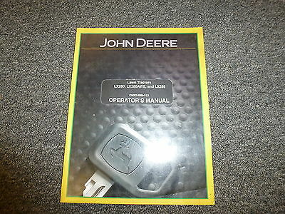 John Deere LX 280 280AWS & 289 Lawn Tractor Owner Operator Manual OMM149664