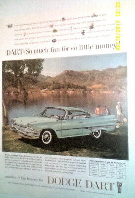 1960 Dodge Dart 2-Door Automobile Original Ad