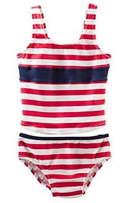 bff3a8890e CIRCO GIRLS STRIPED Tankini Two Piece Swimsuit - Black, White & Teal ...