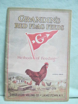 1930's Grandin's Red Flag Feeds   Chickens