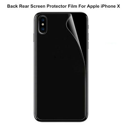 HD Clear Matte Back Rear Screen Protector Skin Cover Film For Apple iPhone X Lot