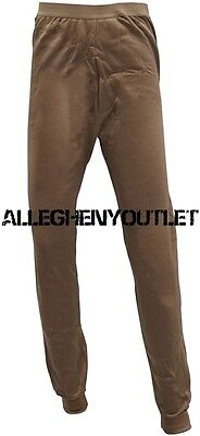 US Military Expedition POLYPRO HEAVY THERMAL UNDERWEAR PANTS Bottoms Tan L VGC
