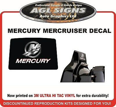 Mercury Outdrive Reproduction Decal   Mercruiser   Bravo  alpha  one two three