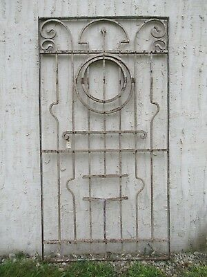 Antique Victorian Iron Gate Window Garden Fence Architectural Salvage #50