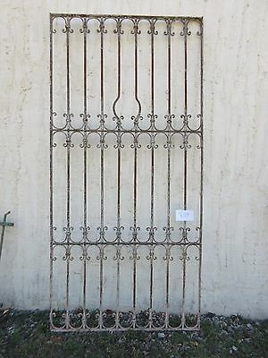 Antique Victorian Iron Gate Window Garden Fence Architectural Salvage #839