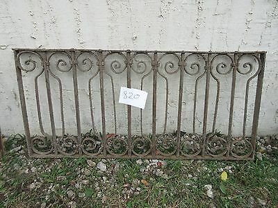 Antique Victorian Iron Gate Window Garden Fence Architectural Salvage #820