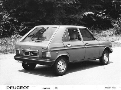 1980 Peugeot 104 SR ORIGINAL Factory Photo oua1814