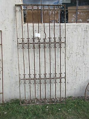 Antique Victorian Iron Gate Window Garden Fence Architectural Salvage #832