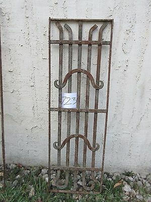 Antique Victorian Iron Gate Window Garden Fence Architectural Salvage #723