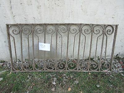 Antique Victorian Iron Gate Window Garden Fence Architectural Salvage #859