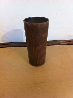 DECORATIVE GOOD QUALITY 19th CENTURY SMALL TREEN WOODEN BEAKER 3.3 inches