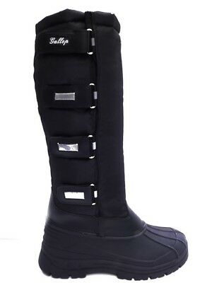 Gallop Alpine Thermo Fleece Lined Tall Riding Yard Mucker Walking Boots