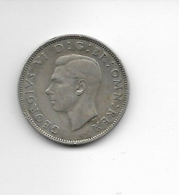 1944 Great Britain Silver Two Shilling Coin