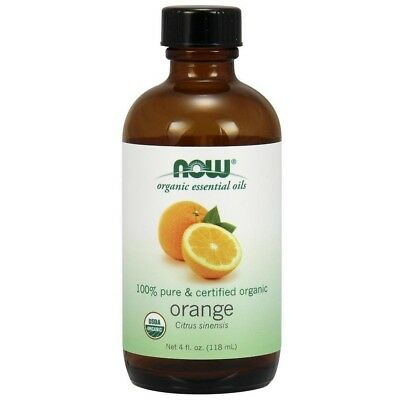 Now Foods Pure Organic ORANGE Essential Oil 4 oz  Mood, Inflammation Support
