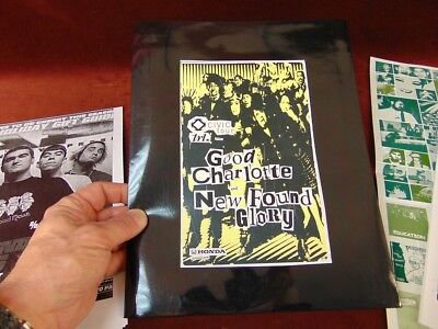2003 Press Kit GOOD CHARLOTTE and NEW FOUND GLORY Punk Rock HONDA CIVIC TOUR
