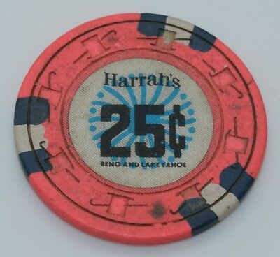 Harrah's 25¢ Casino Chip Reno/Lake Tahoe Nevada H&C 1970 FREE SHIPPING