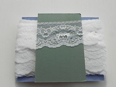 Card of New Wide Lace - White
