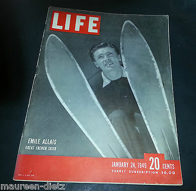 January 24, 1949 LIFE Magazine 1940's advertising add ads FREE SHIPPING Jan 1 25