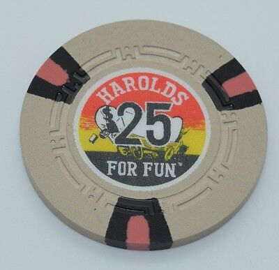 Harold's Club $25 Casino Chip Reno Nevada H.C.E. Mold 1965 FREE SHIPPING