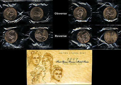 2007 U.S. Mint First Spouse Bronze Medal Series - 4 Medal Set - OGP