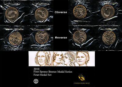 2010 U.S. Mint First Spouse Bronze Medal Series - 4 Medal Set - OGP