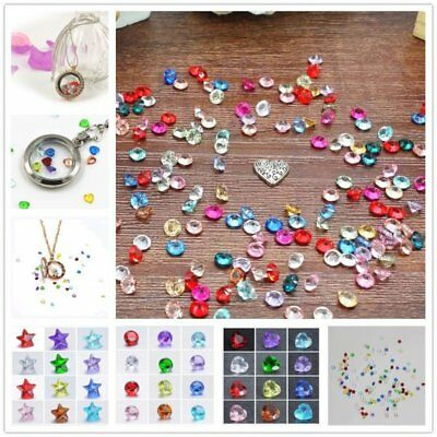 Wholesale 100PCS Multi 5mm Round Heart Birthstones Charms for Floating Locket