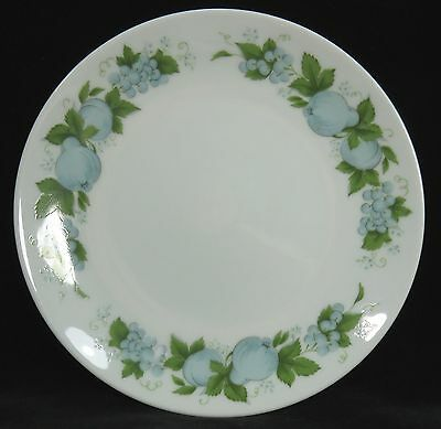 Noritake China  Bread & Butter  Dessert Plate BLUE ORCHARD White with Blue Fruit