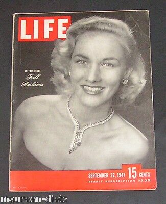 September 22, 1947 LIFE Magazine Retro ad ads Sept. '47 9-22-47 +  FREE SHIPPING