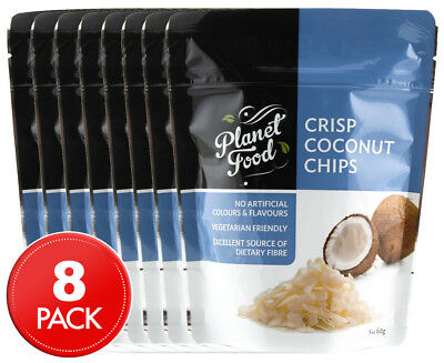 8 x Planet Food Crisp Coconut Chips 60g
