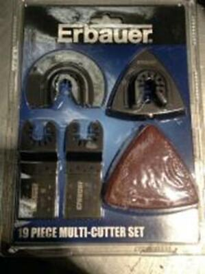 Erbauer Multi-Cutter Accessory Set, 19 Pieces Multi-Tool