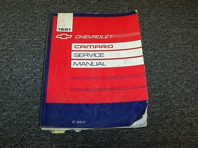 owners manual for 1991 chevy camaro