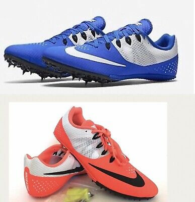 more photos cc278 7394f Nike Zoom Rival S 8 Mens Track Spikes 12 13 Sprint Shoes Blue White Orange  New