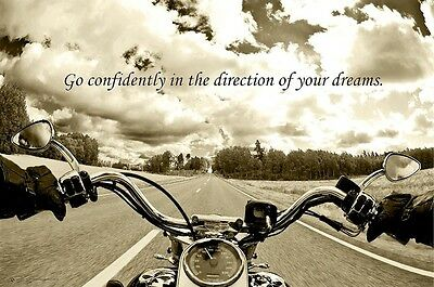 HARLEY DAVIDSON MOTORCYCLES ~ GO CONFIDENTLY 24x36 POSTER Motorcycle Ride Dreams