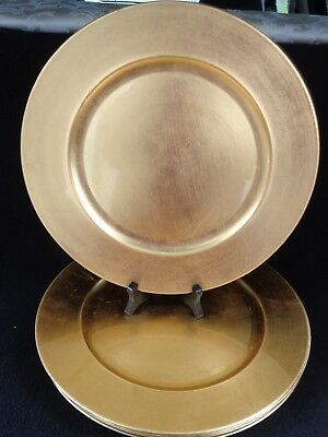 Gold Charger Plates Set Of Eight