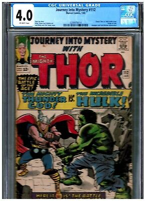 Journey into Mystery #112 (Jan 1965, Marvel) CGC 4.0 CLASSIC THOR VS HULK BATTLE
