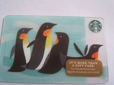 Starbucks Gift Card: 2014  Penguins  Special Edition  Collectible