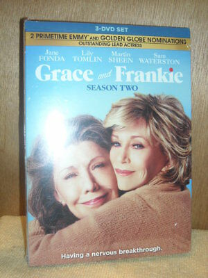 Grace and Frankie: Season 2 (DVD, 2017, 3-Disc Set) Martin Sheen, Sam Waterston
