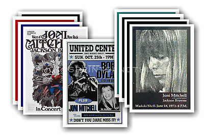 JONI MITCHELL - 10 promotional posters - collectable postcard set # 3