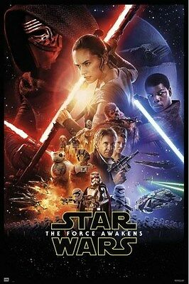 STAR WARS ~ THE FORCE AWAKENS ~ ONE SHEET ~ 27x40 MOVIE POSTER NEW/ROLLED!